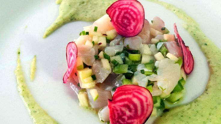 Scallop and Apple Tartare with Creamy Avocado Dressing