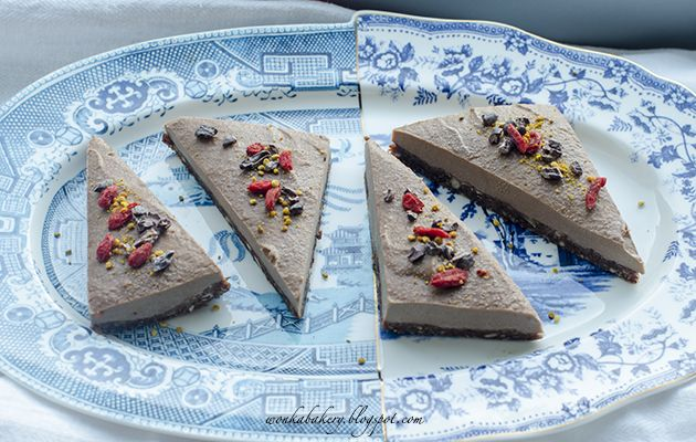 Saint Valentine's Chocolate orange raw cheescake - Cheescake vegana al cioccolato per un S. Valentino speciale