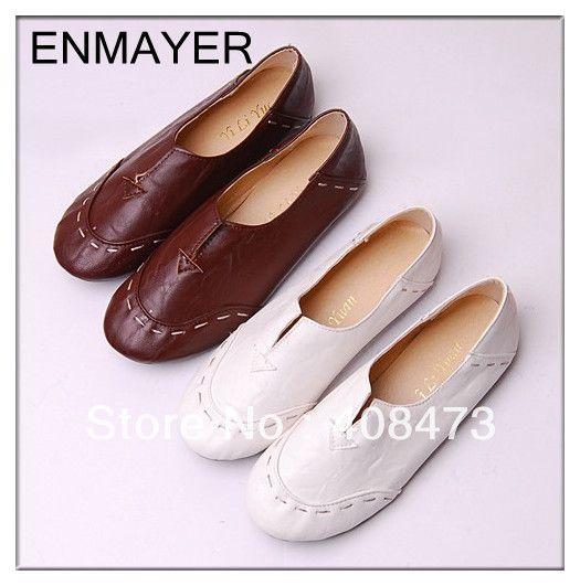 Gratis verzending 2013 meest populaire draagbare casual schoenen charmant schoenen voor vrouwen flats plus size 34-43