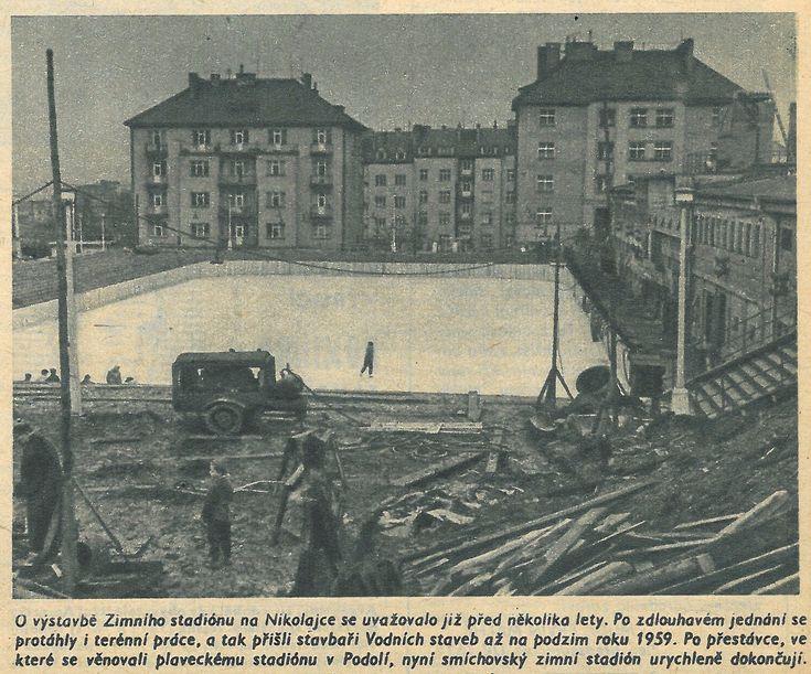 """Praha Neznámá on Twitter: """"Zimní stadión Nikolajka na začátku roku 1961 (časopis Stadion). Za fotku děkujeme @RadekKlier https://t.co/XUvazUnHdS"""""""