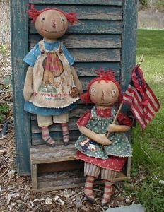 Primitive Parade Raggedy Primitive Dolls Patterns by RoosterCreek, $10.00