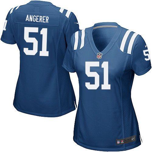 $109.99 Nike Elite Women's Indianapolis Colts #51 Pat Angerer Team Color Blue  NFL Jersey