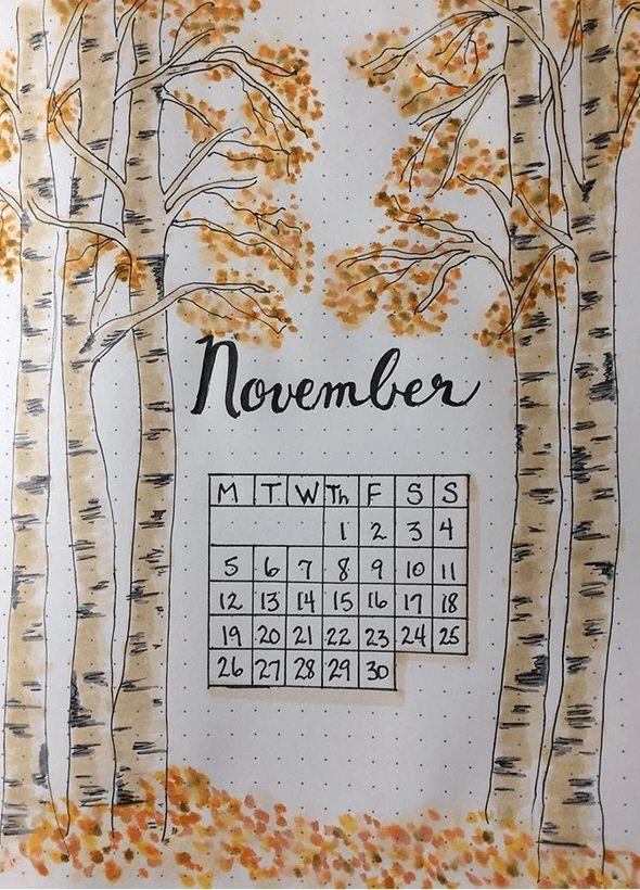 27 Autumny Fall Bullet Journal-Themen und Seitenideen zum Ausprobieren