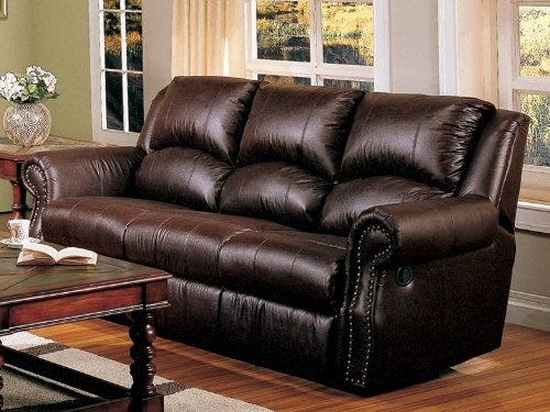 cozy dark brown leather couch