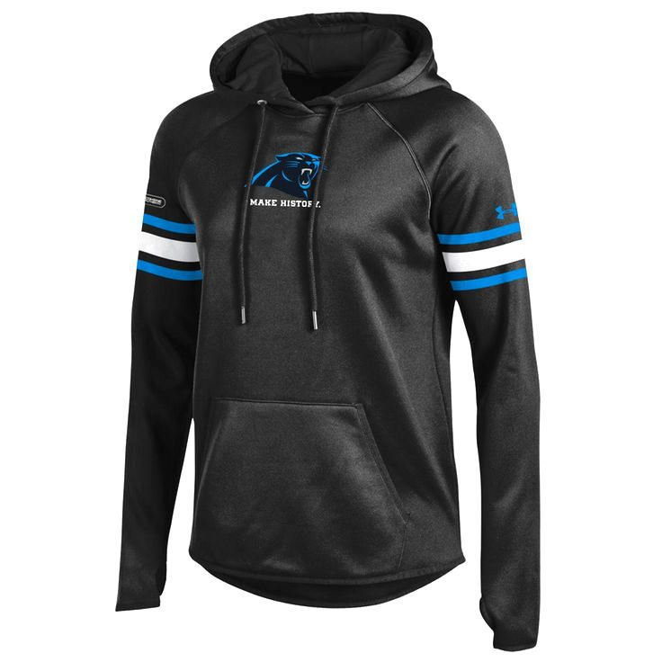 Carolina Panthers Under Armour Women's NFL Combine Authentic Make History Armour Fleece Pullover Hoodie - Black - $79.99