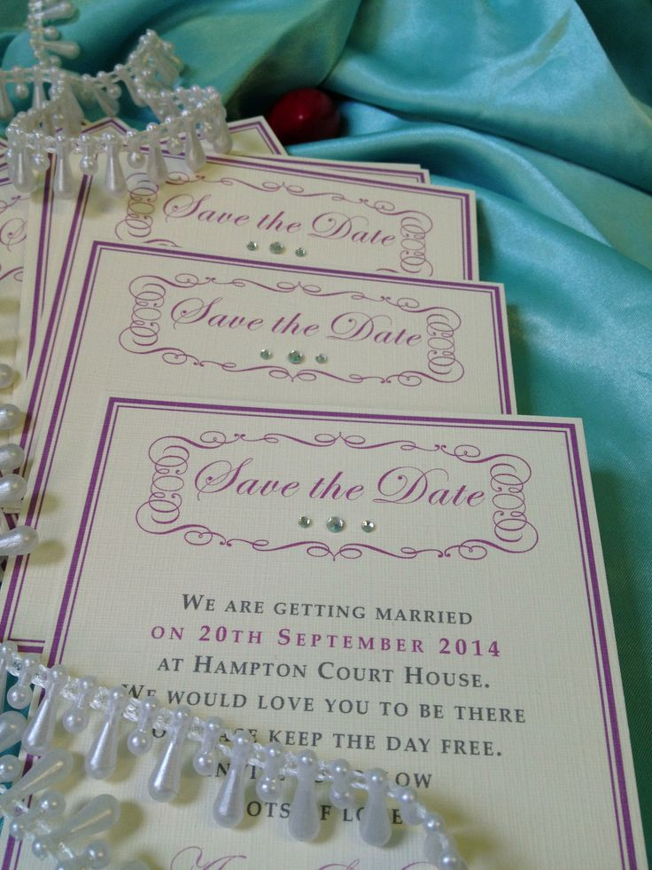 Vintage save the date cards by Perfect
