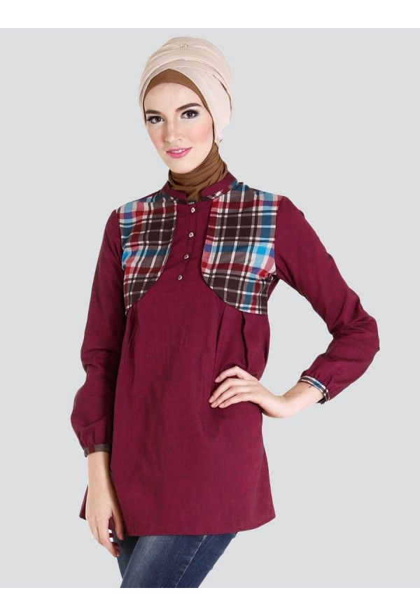 Plaid Touched Tunic
