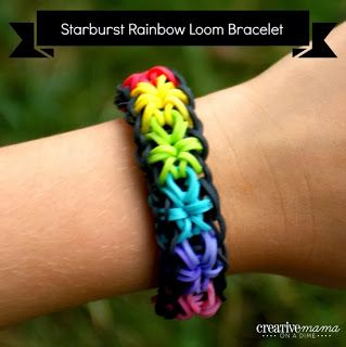 Rainbow Loom Starburst bracelet Instructions: Rainbowloom, Rainbow Loom, Idea, Craft, Rainbows, Loom Bands, Loom Fun, Loom Bracelets, Kid