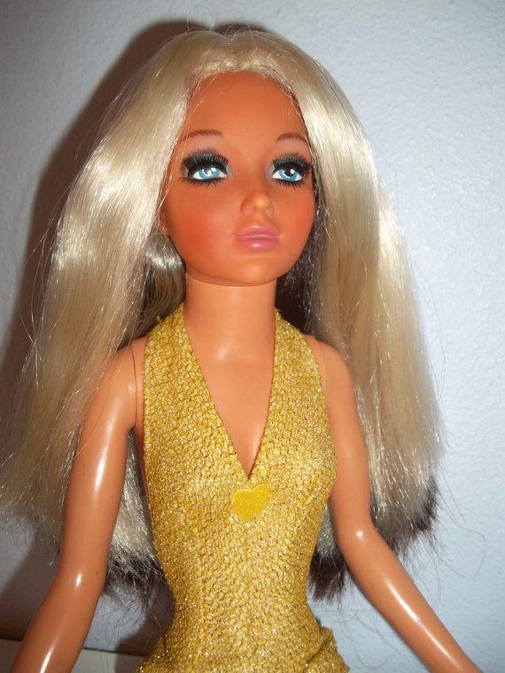 Vintage 1970s Ideal 19 Quot Tiffany Taylor Doll W Color Changing Hair Blonde Amp Brunette Brunettes