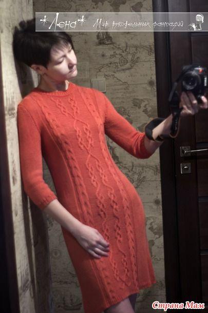 Платье спицами из бамбука