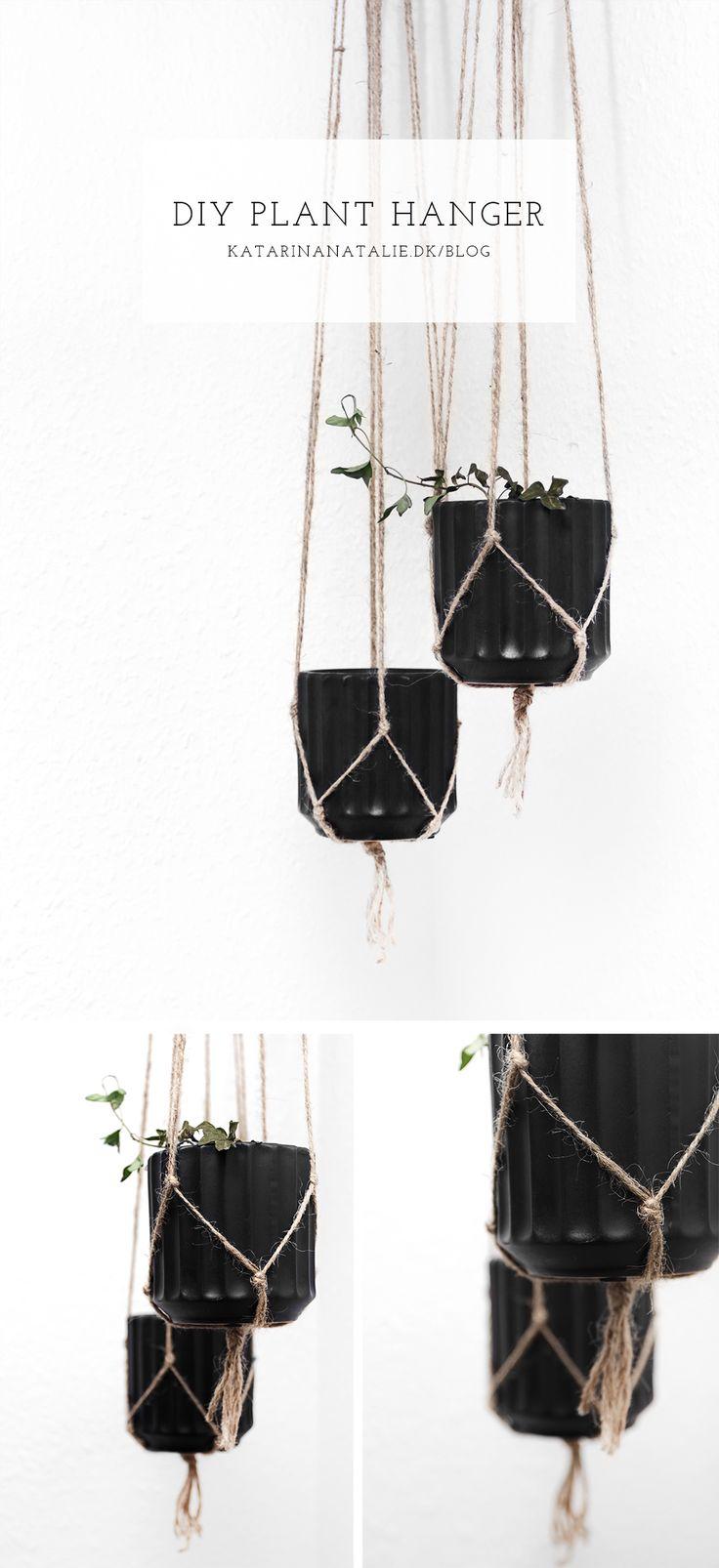 DIY PLANT HANGER: Jeg startede det nye år ud med at være pisse aktiv, og har faktisk lavet hele to DIY projekter i dag. Den ene er disse ophæng til ....