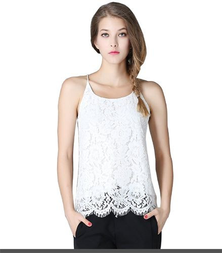 Olisi Women's Elegant Soft Anti-Cling Scoop Neck Lace Camisole Tank Vest Top Price: $83.99 & Free Return on some sizes and colors