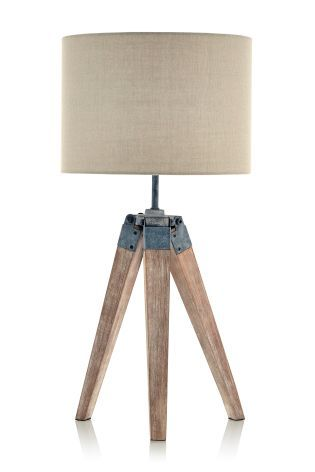 buy wooden tripod table lamp from the next uk online shop bedroom nightstand lamps ideas lighting models bedside