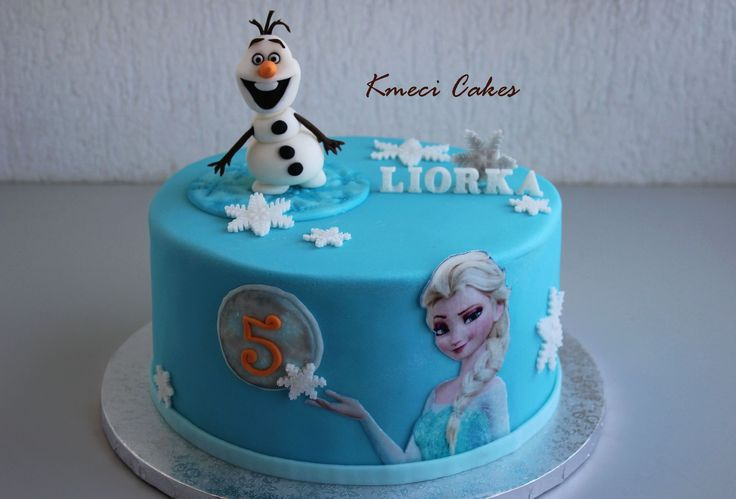 Frozen - Elsa and Olaf cake