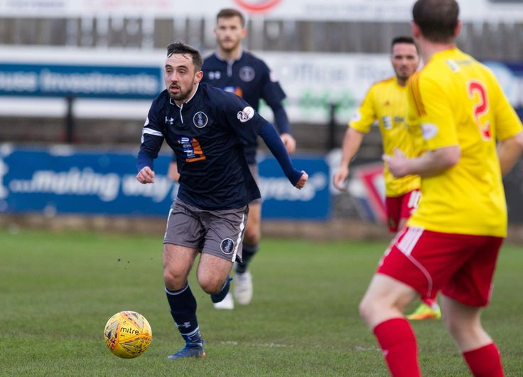 Queen's Park's Anton Brady in action during the SPFL League One game between Albion Rovers and Queen's Park.