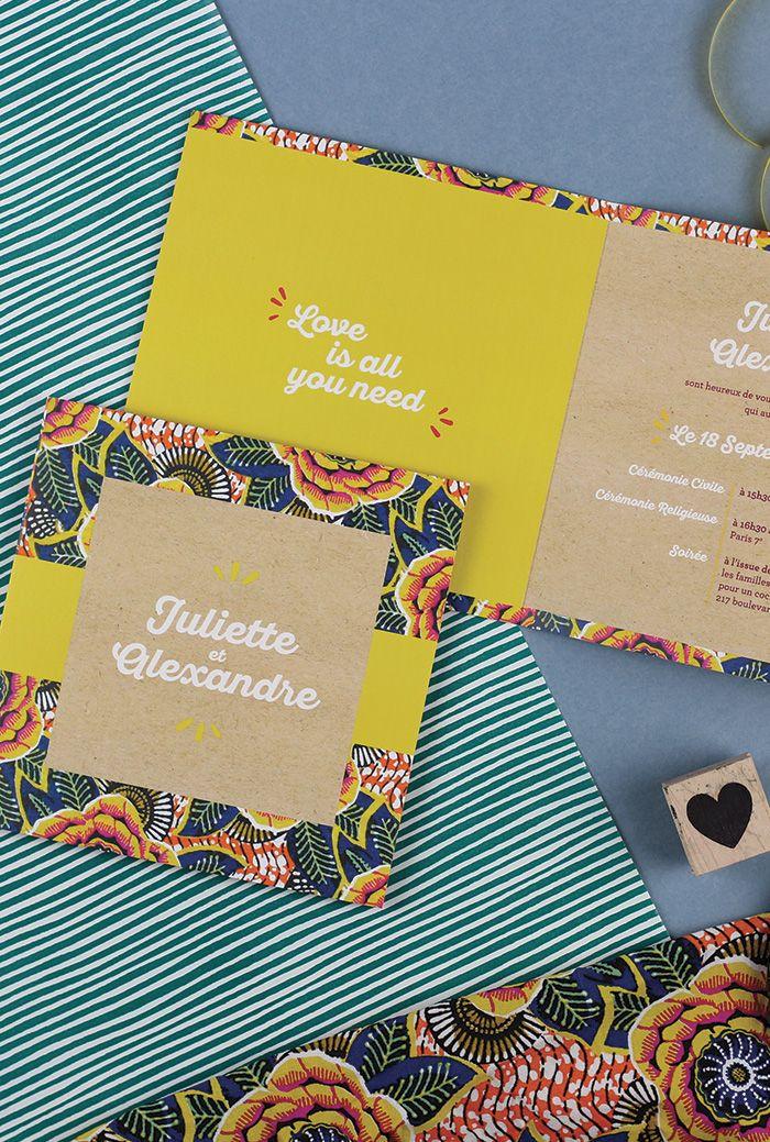 Wax – invitation de mariage Livret