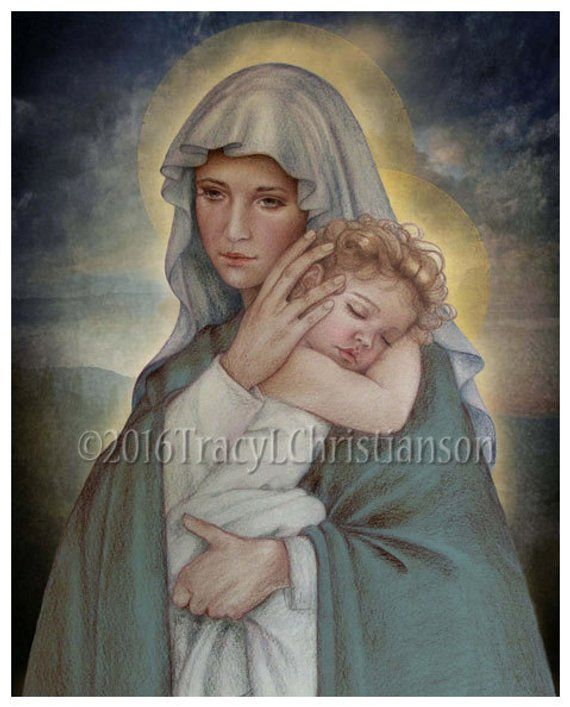 Seward Print 16x20 Mother and Child by James E