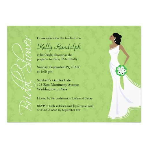 modern elegance bridal shower invitation bridal shower invitationsdiy wedding invitationsafrican american - African American Wedding Invitations