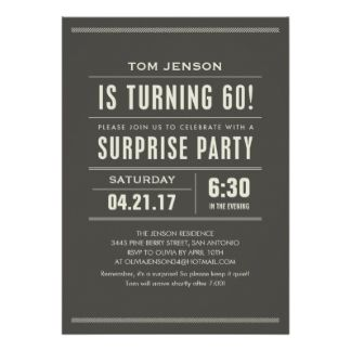 Awesome FREE Template 60th Birthday Surprise Party Invitations