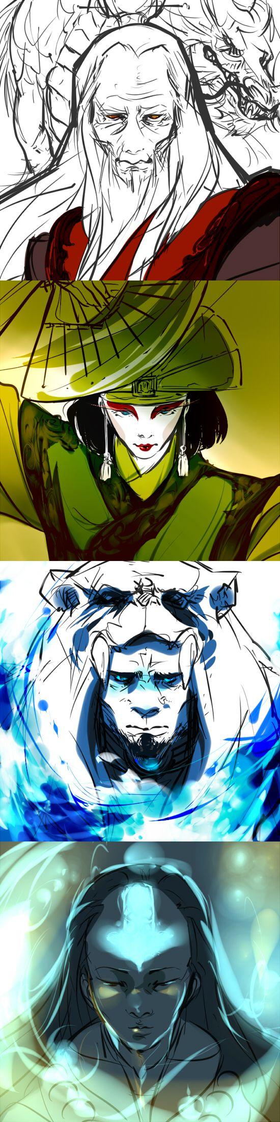The Avatars | by VirusGarura on deviantART | The Last Airbender | Legend of Korra | Avatar