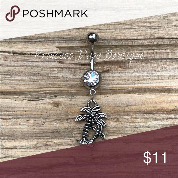 Silber Palme Bauchnabel Ring Bauchnabelpiercing Körperschmuck Material: 316L …   – My Posh Picks