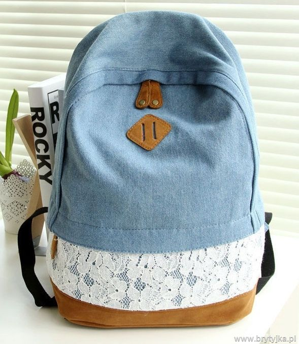 Vintage denim backpack http://www.brytyjka.pl/modny-plecak-unisex-a4-w-gwiazdki-atmosphere-id-414.html