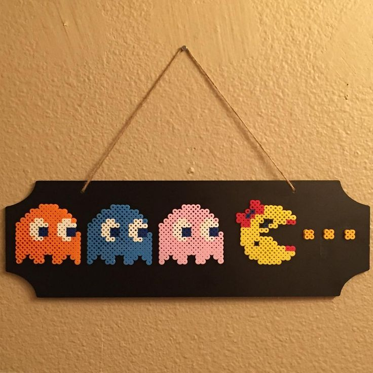 A fun little Ms Pacman sign for the game room - for those who like to keep it old school. One day I'm gonna have one of those Ms Pacman table arcade machines! #mspacman #pinky #inky #clyde #pacman #pacmanghosts #oldschoolgames #retro #retrogamer #gameroom #gamer #80s #80sbaby #80skid #classicvideogames #gamerart #retroart #videogameart #arcadegames #pixelart #perler #perlerart #perlerbeads #beadart