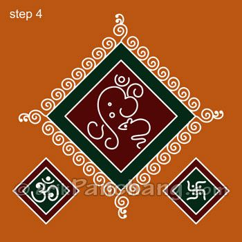 simple rangoli designs with dots for competition - Google Search