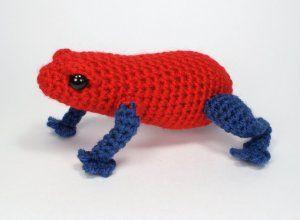 Poison Dart Frog amigurumi crochet pattern