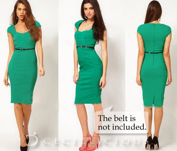 Beatrice Green Midi Dress