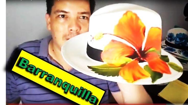 Sombrero pintado  para carnaval  Barranquilla!!