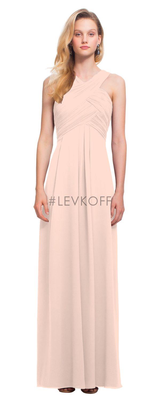 Lujo Vestido De La Dama De Honor Factura Diseñador Levkoff ...