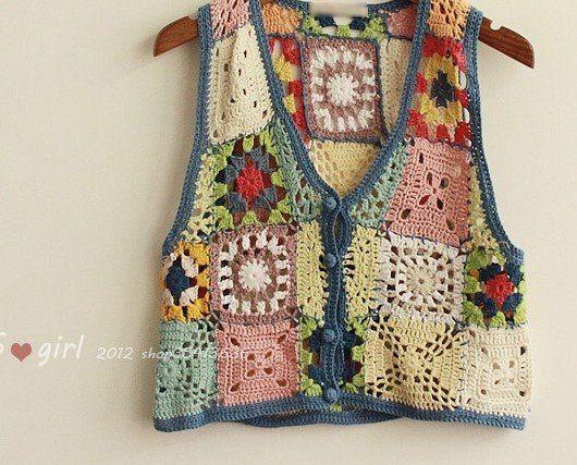 Colorful Crochet vest