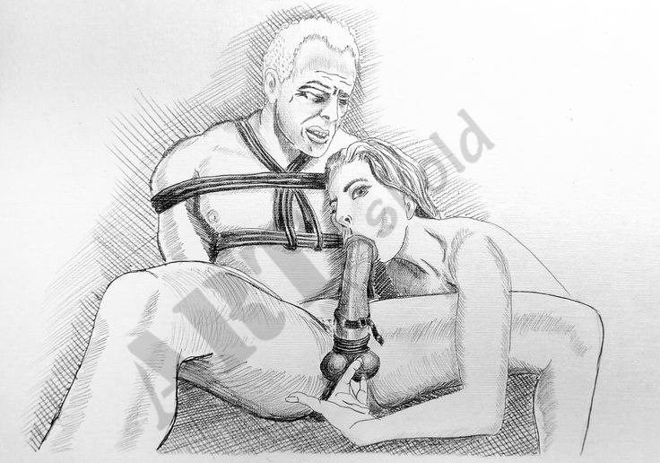 pencil drawings of woman in bondage