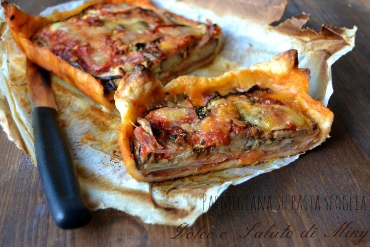 Parmigiana su pasta sfoglia