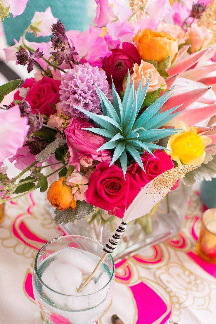 Turquoisemagentaandgoldwedding Wedding inspiration