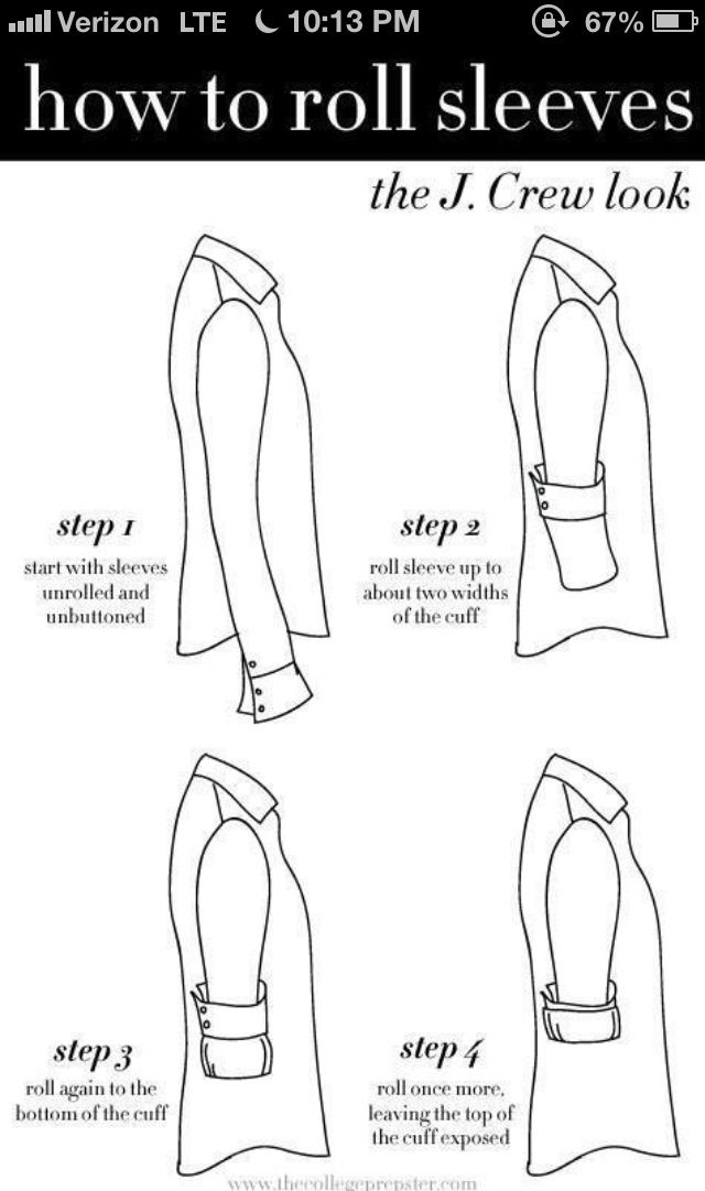 How to achieve those perfectly rolled sleeves.