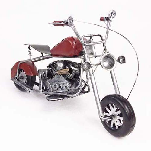 METTLE  Handicraft artworks weling iron motorbike saloon hotel meeting room living room creative ornaments colour red