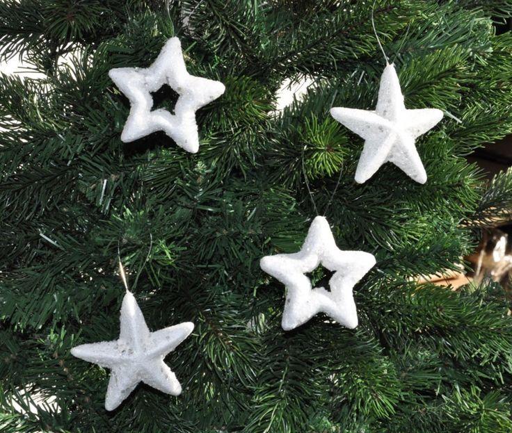 Christbaumschmuck Christbaumkugeln Sterne Weiß Silber Glitzer Flakes  Kunststoff Schaum. Preis Ab Euro Jetzt Meist Versandkostenfrei Kaufen!
