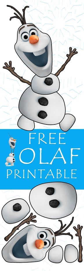 Free Olaf printable craft that you can print off your home computer - no sign ups or subscription email required! Great for winter crafts and Frozen birthday parties!