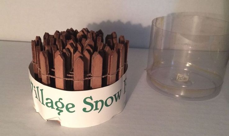 "Department Dept. 56 Village Snow Fence Brown Picket 2"" x 36"""