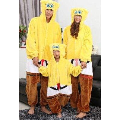 Matching Family Spongebob Pajamas Cartoon Lounge Onesies Sleepwear Set $42.91