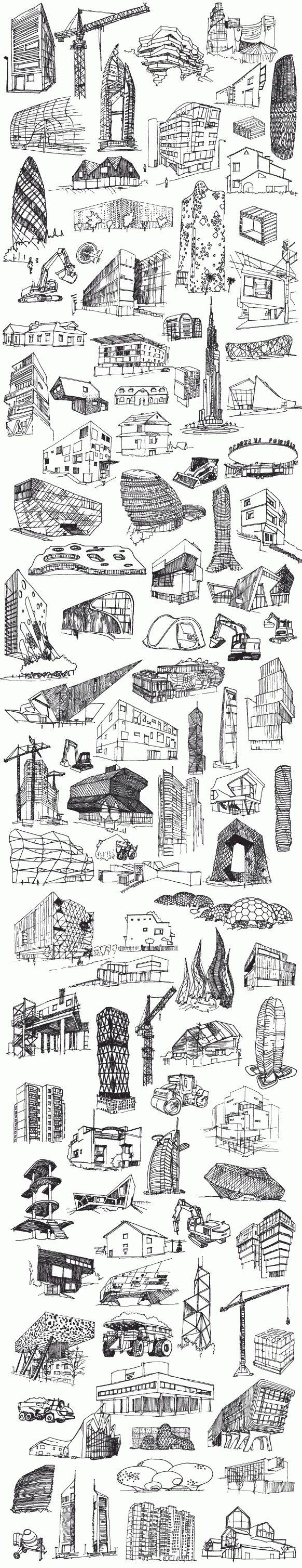 Drawing skycrapers