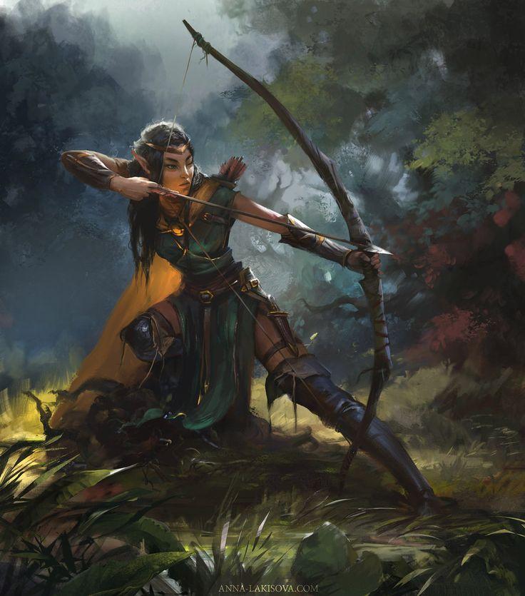 De karakters: dit zijn de elven. Zij zijn ook de vijanden van de dwergen. Toen de berg aangevallen werd door de goblins vroegen de dwergen de elven om hulp maar zij hebben hun niet geholpen .