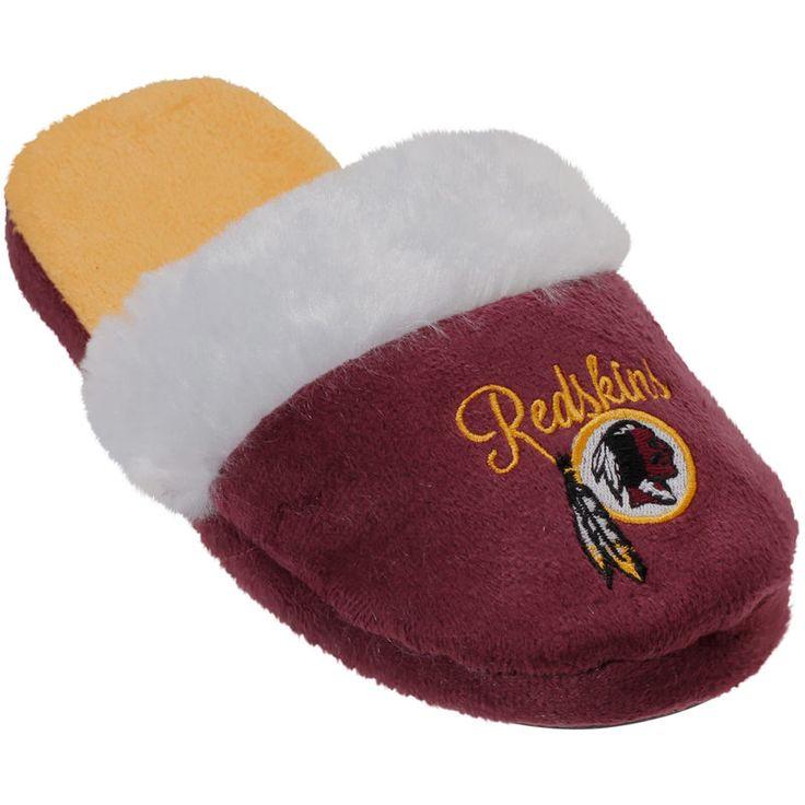 Washington Redskins Women's Colorblock Fur Slide Slippers