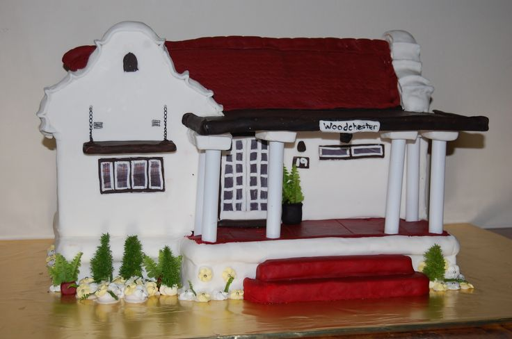 My family home as a cake for my parents 50th Wedding Anniversary. Woodchester Bed and Breakfast