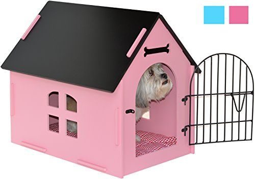 ROYAL CRAFT WOOD Dog House Crate Indoor Kennel for Small Dogs, Pet Home with Door and Bed Mat (PINK)   Check it out-->  http://mypets.us/product/royal-craft-wood-dog-house-crate-indoor-kennel-for-small-dogs-pet-home-with-door-and-bed-mat-pink/  #pet #food #bed #supplies