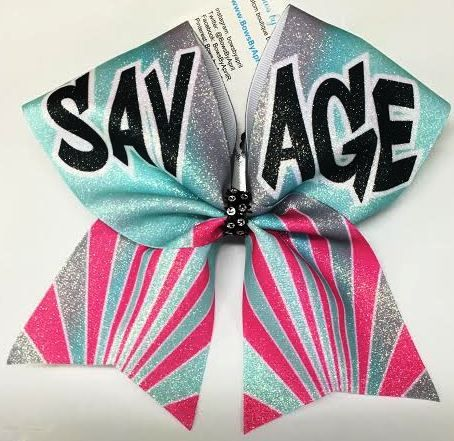 Bows by April - SAVAGE Cheer Bow, $15.00 (http://www.bowsbyapril.com/savage-cheer-bow/)