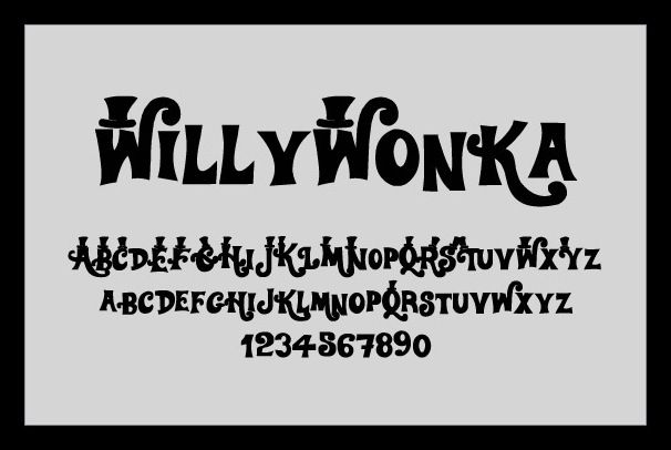 Willy Wonka font