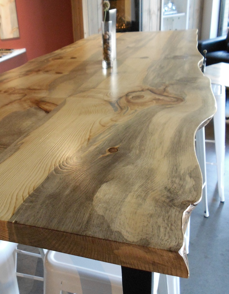 How About This Live Edge Table This Is Campground Blue
